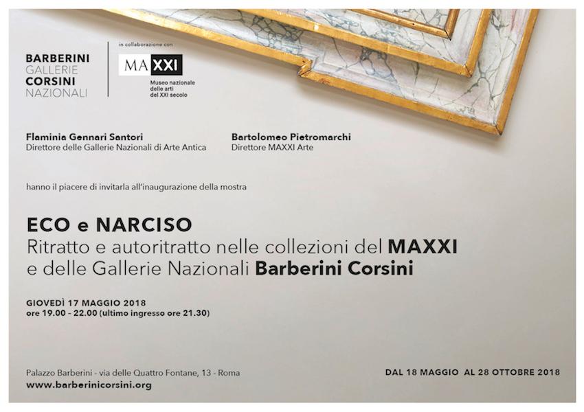 Eco e Narciso. Ritratto e autoritratto nelle collezioni del MAXXI e delle Gallerie Nazionali Barberini Corsini – Inaugurazione mostra