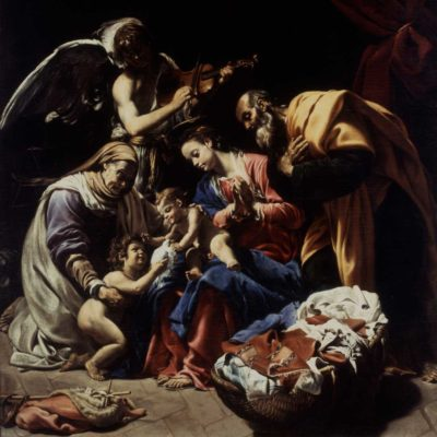 Holy Family with Saint Elizabeth, the Infant Saint John and an Angel