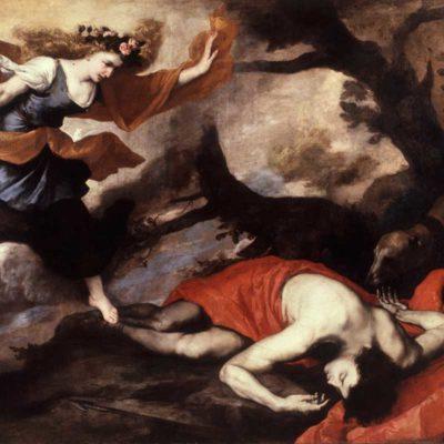 Venere raggiunge Adone morente