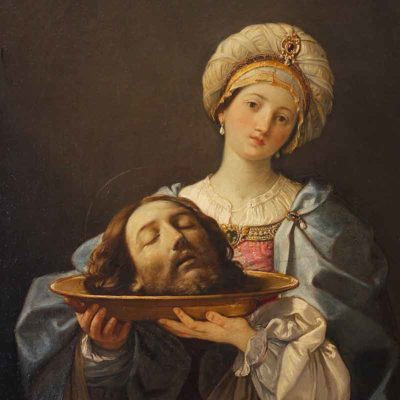 Salome holding the head of John the Baptist