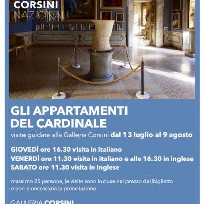 Gli appartamenti del Cardinale. Visite guidate alla Galleria Corsini (13 luglio – 9 agosto 2018)
