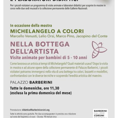 Laboratori per bambini – Michelangelo a colori