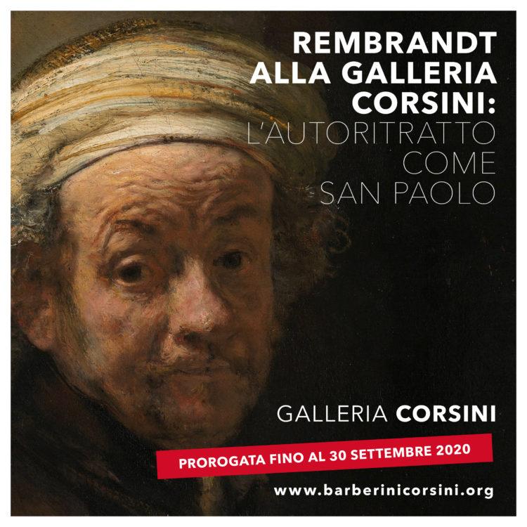 Rembrandt alla Galleria Corsini: l'Autoritratto come San Paolo – Prorogata